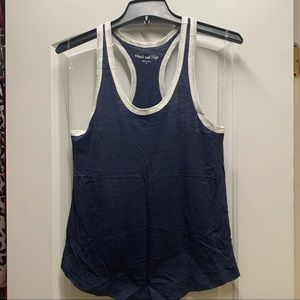 NWOT Heart and Hips blue racerback tank